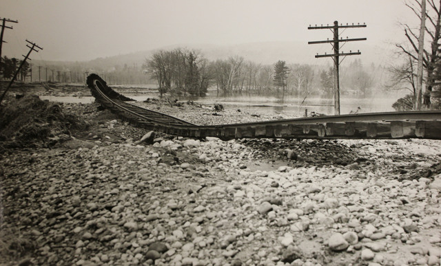 Railway Washout from the Hurricane of 1938 in Sewalls, New Hampshire