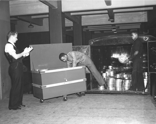 Photograph of Shipment of Motion Picture Film from the Works Progress Administration (WPA)