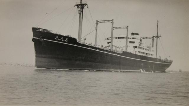 Japanese Cargo Ship Nako Maru on the Cape Cod Canal