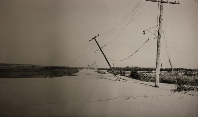 View along Atlantic Avenue in Westerly, Rhode Island after the Hurricane of 1938