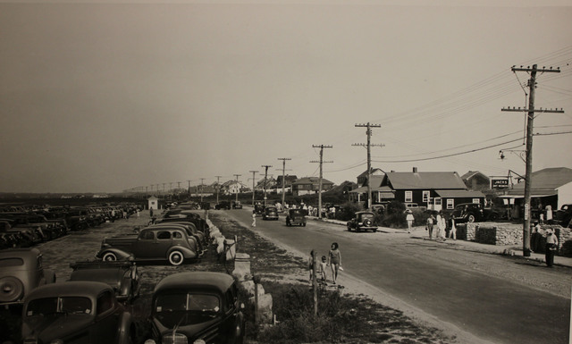View along Atlantic Avenue in Westerly, Rhode Island before the Hurricane of 1938