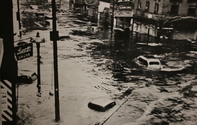 Flooding in the Business District of Providence, Rhode Island due to the Hurricane of 1938