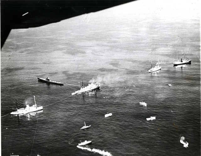 Aerial View of the Rescue Operation of the USS Squalus