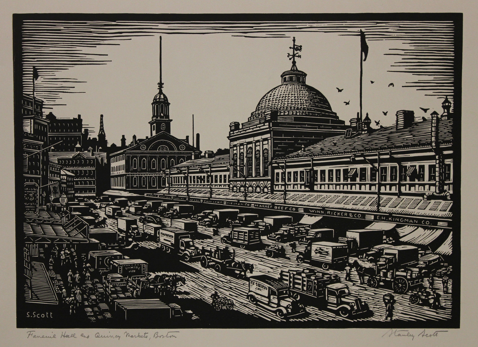 Faneuil Hall at Quincy Market in Massachusetts by Stanley Scott