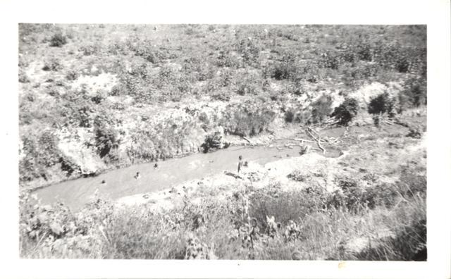 Landscape (Boys Swimming in Creek from Oglala Dam)