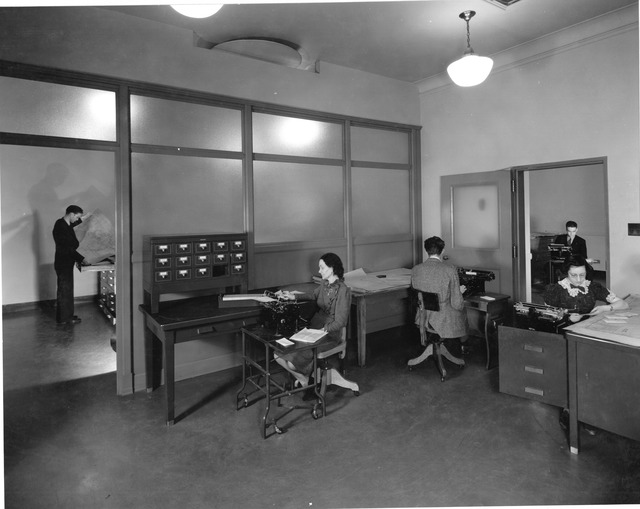 Photograph of Indian Office Maps Indexed, Work Projects Administration (WPA) Project