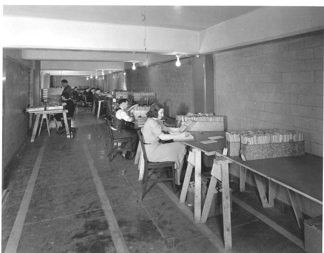 Photograph of Veterans' Bureau Files, Work Projects Administration (WPA) Project