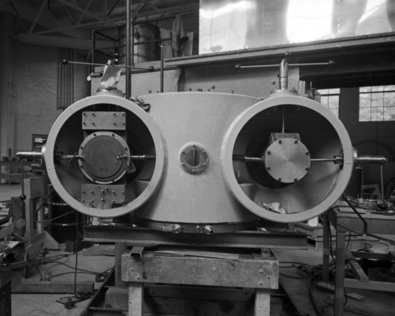 60-inch cyclotron tanks. Cooksey  14-3,  Feburary 1, 1939. [Photographer: Donald Cooksey]