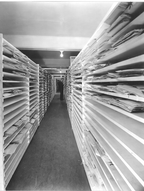 Photograph of Document Flattening, Humidifying Chamber, Work Projects Administration (WPA) Project