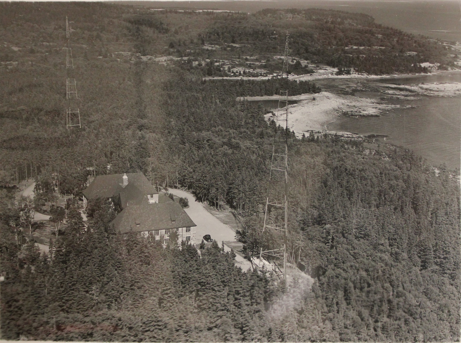 Aerial View of Radio Direction Finder Station, Winter Harbor, Maine