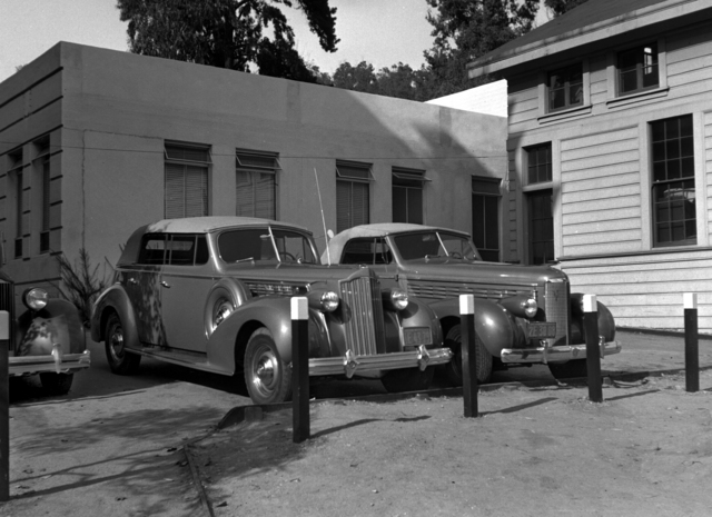 "Ernest Orlando Lawrence 1939 ""Super 8"" Packard. Shot taken October 2, 1939. Cooksey 61 [Photographer: Donald Cooksey]"