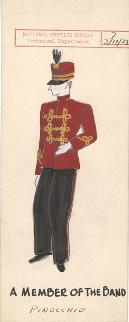 Drawing of A Member of the Band Costume