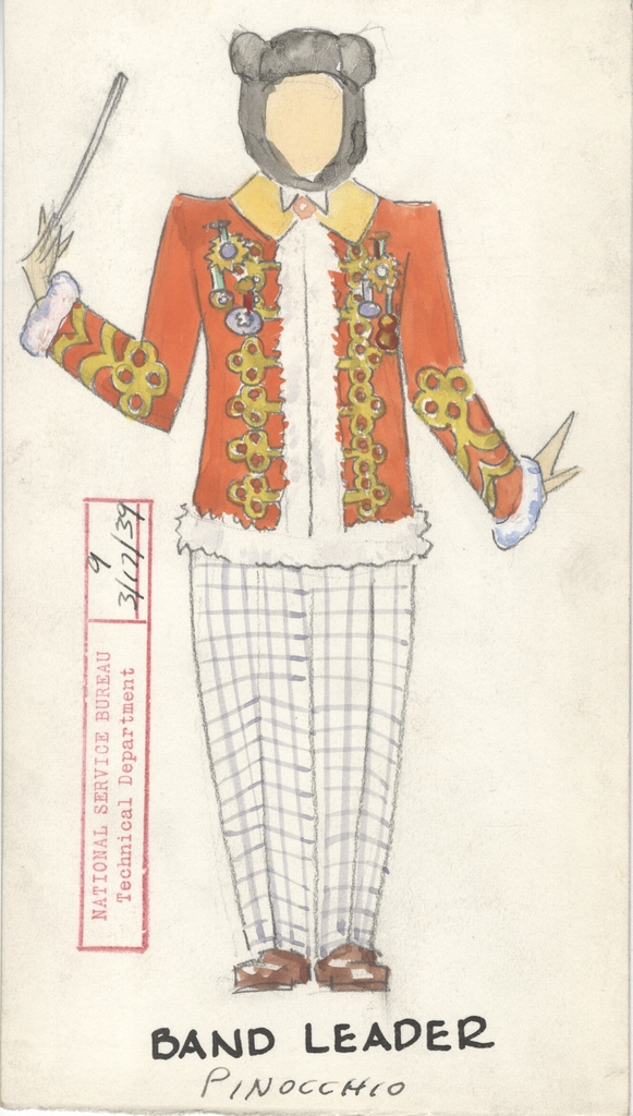 Drawing of Band Leader Costume