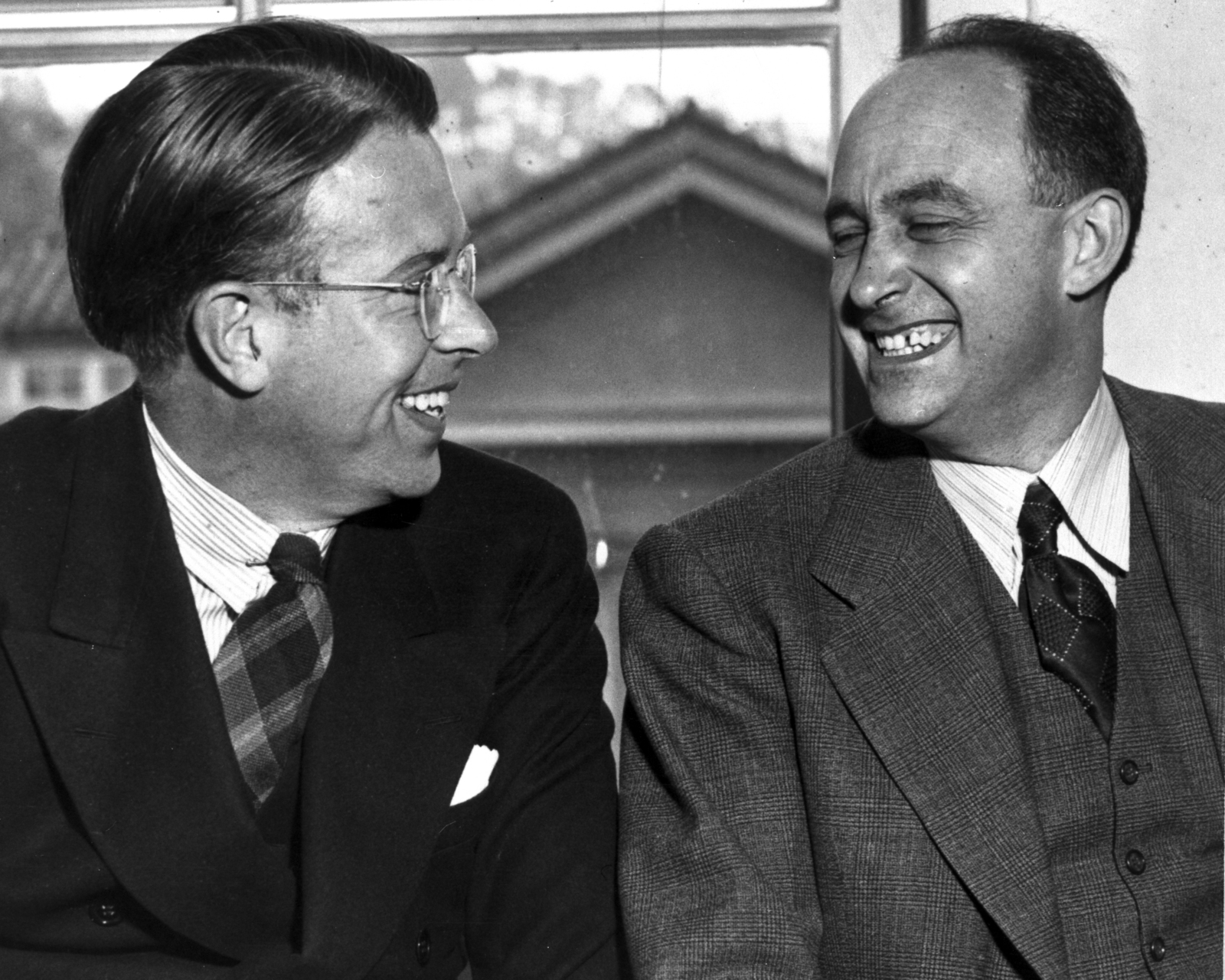 Ernest Orlando Lawrence With Enrico Fermi Taken January 29 1940
