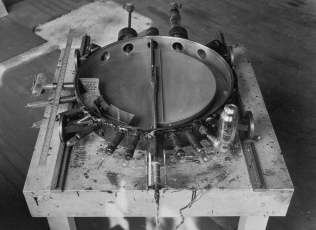 37-inch cyclotron, tank number one with single Dee. Photo taken February 1, 1940. Principal Investigator/Project: Analog Conversion Project [Photographer: Donald Cooksey]