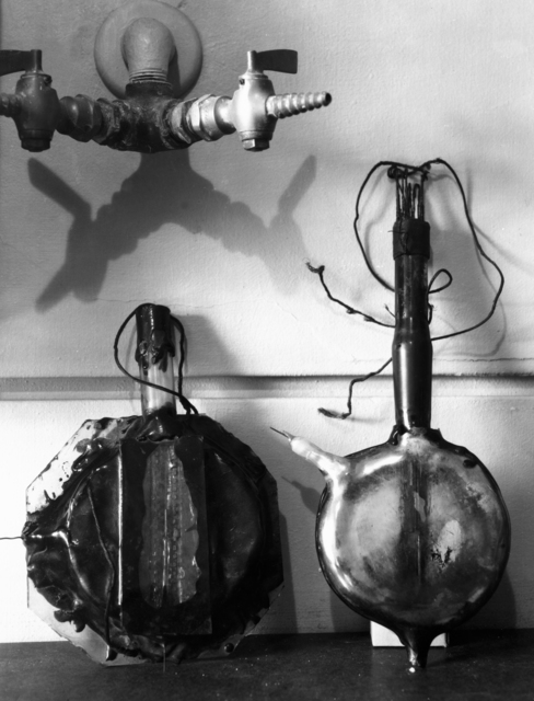 First two 4-inch cyclotrons, taken February 1, 1940.  Principal Investigator/Project: Analog Conversion Project