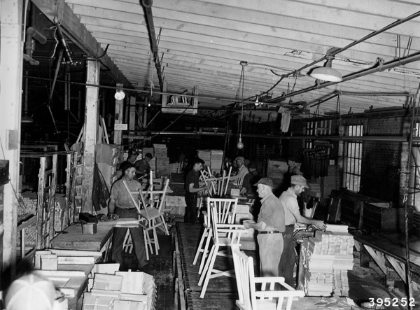Photograph of Line Production Assembling High Chairs