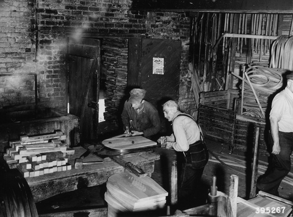 Photograph of Workers Bending Chair Backs