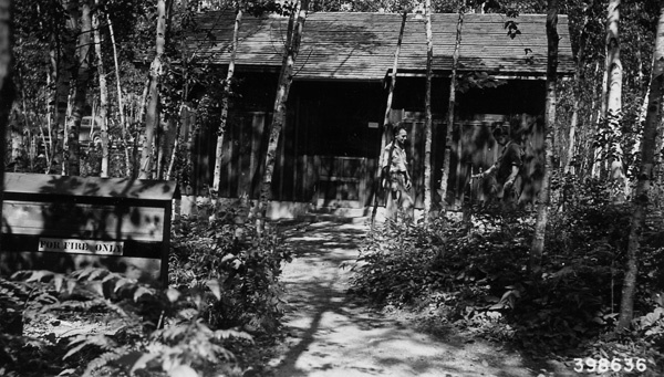 Photograph of Bathhouse Containing Lavatories, Toilets and Showers