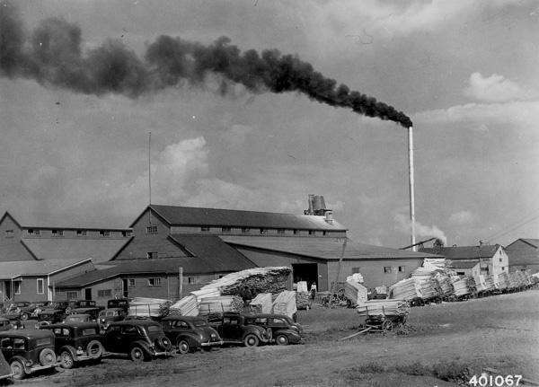 Photograph of Rathborne, Hair, and Ridgeway Sawmill and Box Factory