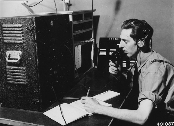 Photograph of Radio Room at Supervisor's Office