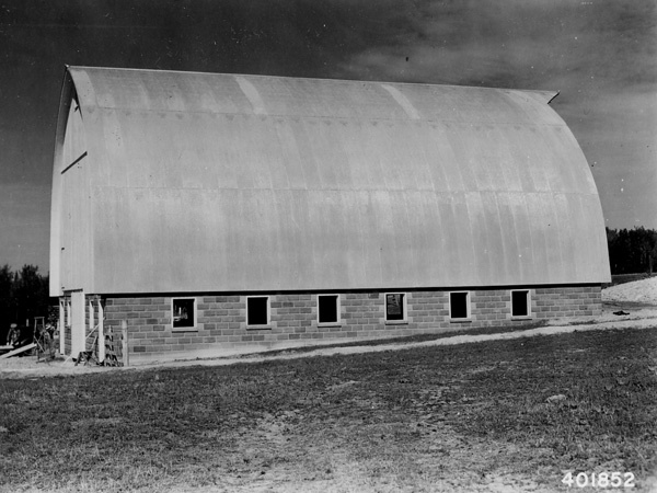 Photograph of Coupland Barn Near Mio Built with Forest Service Jack Pine