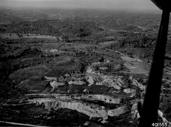 Photograph of Aerial View of a Coal Mine Stripping Area