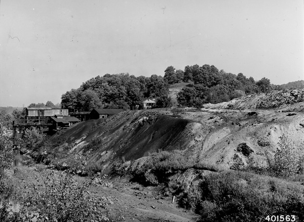 Photograph of Gob Pile from Coal Mining