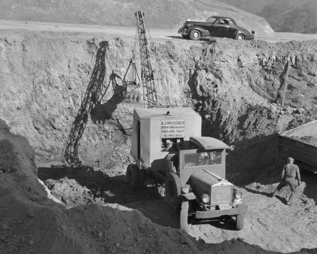 184-inch magnet site excavation, taken October 5, 1940. Principal Investigator/Project: Analog Conversion Project [Photographer: Donald Cooksey]