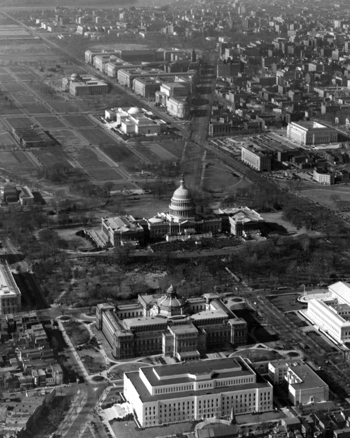 Aerial Photograph of Franklin Roosevelt's Inauguration in 1941