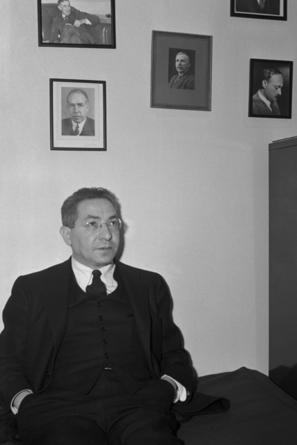 Isidor Isaac Rabi, physicist and Nobel Laureate, taken April 11, 1941. Principal Investigator/Project: Analog Conversion Project [Photographer: Donald Cooksey]