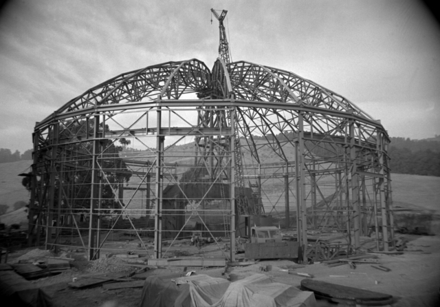 Framework of the184-inch cyclotron facility taken October 23, 1941. Principal Investigator/Project: Image Library Project [Photographer: Donald Cooksey]