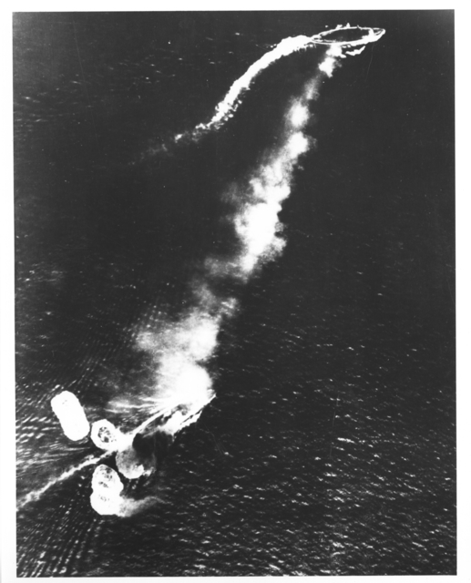 Captured Japanese Photograph of the Japanese Attack on the Prince of Wales and the Repulse Off the Malay Peninsula
