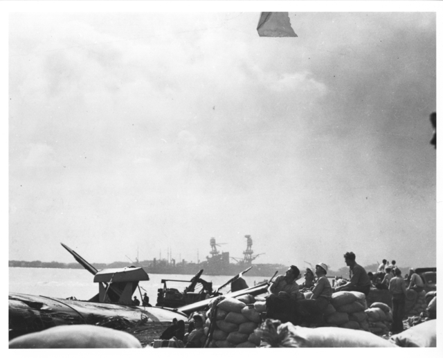 Photograph of Gun Crews during the Japanese Attack on Pearl Harbor