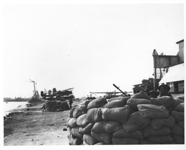 Photograph of Gunnery during the Japanese Attack on Pearl Harbor