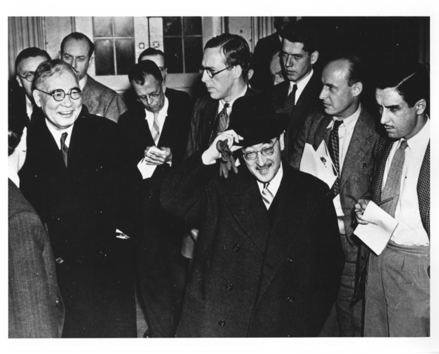 """Photograph of Japanese Envoys in Washington Talking """"Peace"""" As Their Nation Attack Pearl Harbor"""
