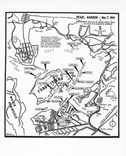 Photograph of Map of Pearl Harbor