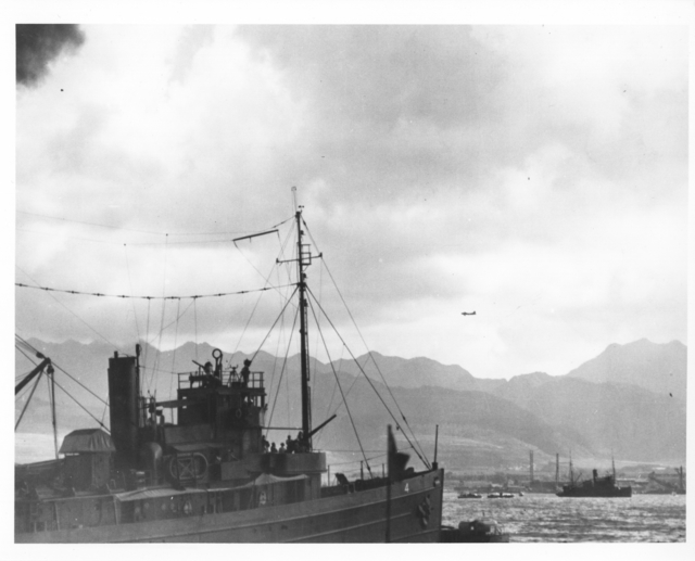 Photograph of Scene at Pearl Harbor