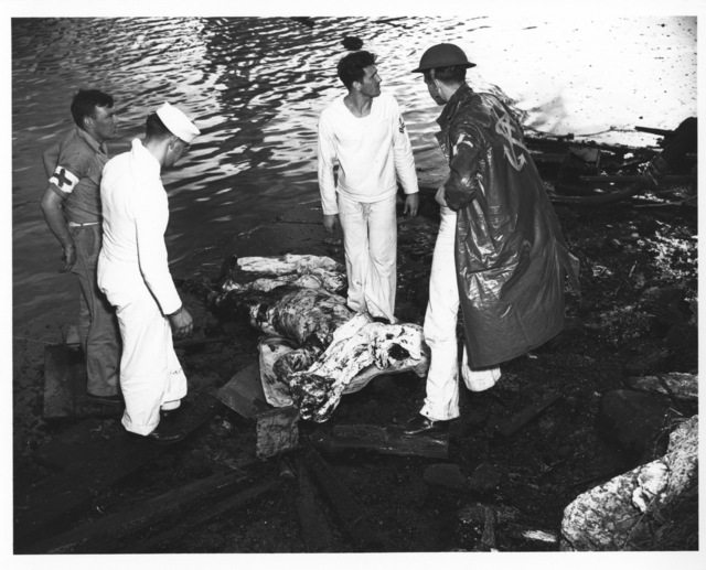 Photograph of Shattered Remains of a Japanese Pilot Whose Plane was Brought Down during Pearl Harbor Attack
