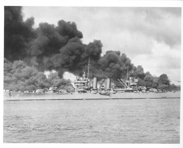 Photograph of the USS Phoenix after the Japanese Attack on Pearl Harbor