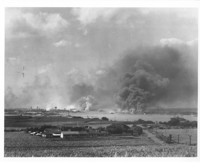 Photograph of View of Pearl Harbor Navy Yard from a Site Near Mobile Base Hospital #2