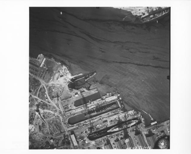 Photograph of Ships at Pearl Harbor following Japanese Attack