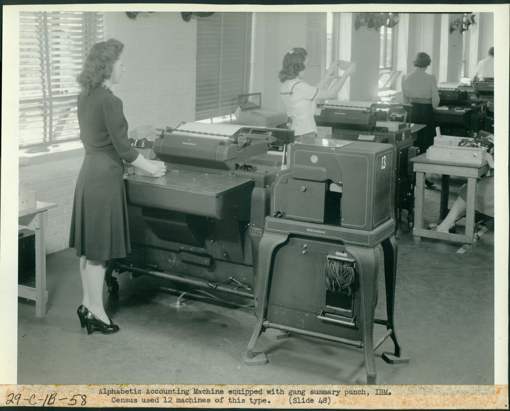 Alphabetic Accounting Machine Equipped with Gang Summary Punch, IBM, Census Used 12 Machines of this Type