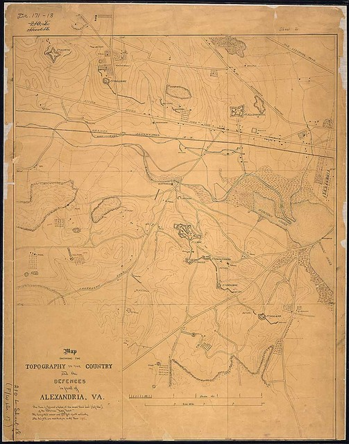 Map Showing the Topography of the Country and the Defences in front of Alexandria, Va.
