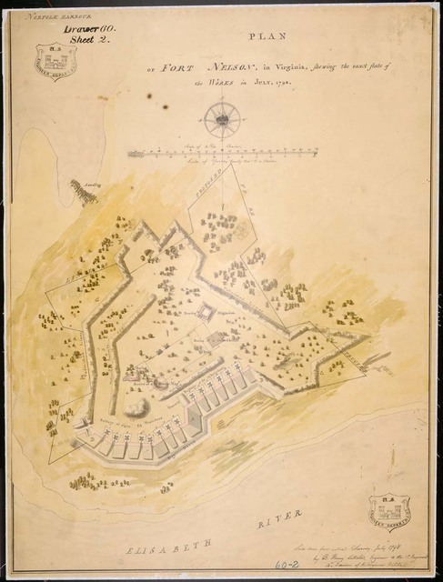 Plan of Fort Nelson, Virginia