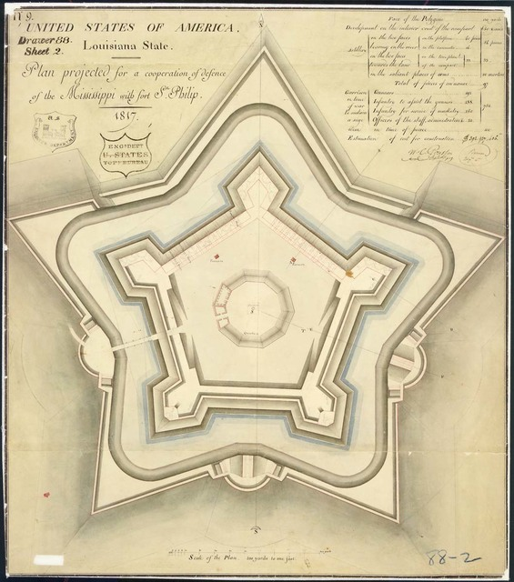 Plan of Fort St. Philip, Louisiana