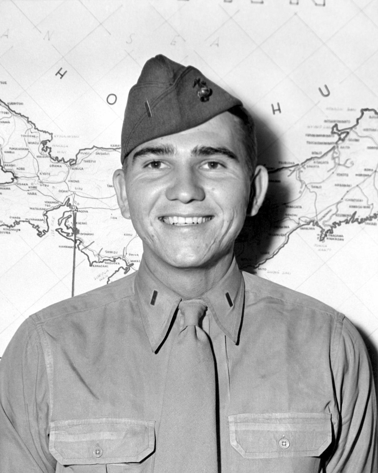 United States Marine Corps Second Lieutenant (2LT) Dean Casewell.  Official Portrait