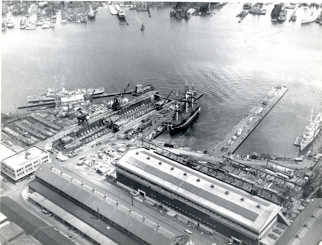 USS Constitution at Pier