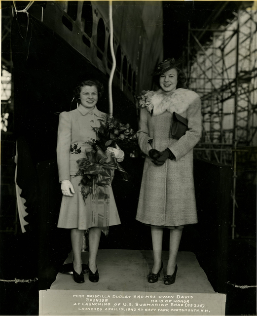 Miss Priscilla Dudley, Sponsor, and Mrs. Owen Davis, Maid of Honor