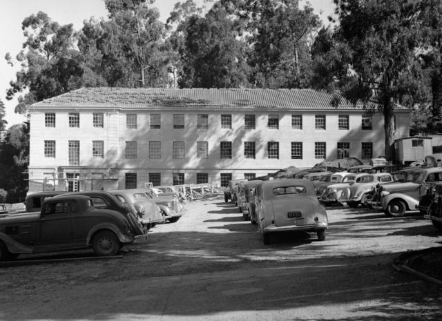 Medical Physics Building (Donner Lab), taken April 22, 1942. Principal Investigator/Project: Analog Conversion Project [Photographer: Donald Cooksey]